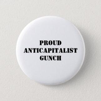 Bóton Redondo 5.08cm Anticapitalist orgulhoso Gunch