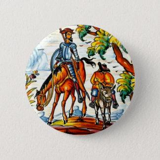 Bóton Redondo 5.08cm Antiguidade da arte da cerâmica do Majolica de Don