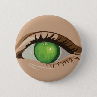 Bóton Redondo 5.08cm Apple de meu olho abotoa-se