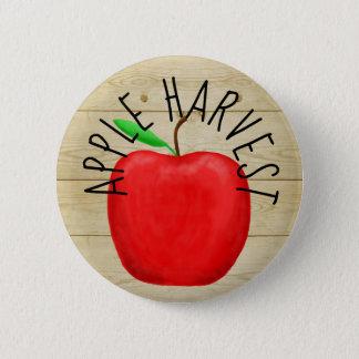 Bóton Redondo 5.08cm Apple vermelho colhe o botão de madeira do sinal