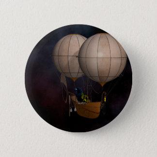 Bóton Redondo 5.08cm Ar quente Baloon de Steampunk
