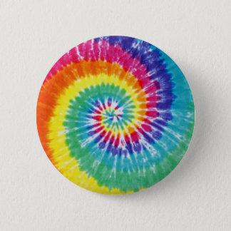 Bóton Redondo 5.08cm Arco-íris multicolorido da tintura do laço do