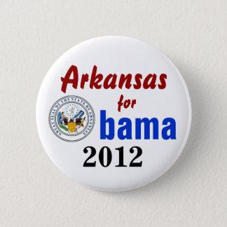 Bóton Redondo 5.08cm Arkansas para Obama 2012