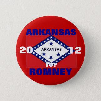 Bóton Redondo 5.08cm Arkansas para Romney 2012