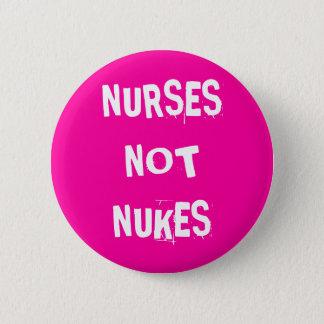 Bóton Redondo 5.08cm Armas nucleares das enfermeiras não