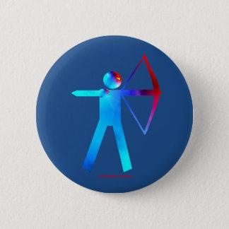 Bóton Redondo 5.08cm Arqueiro no botão da cor