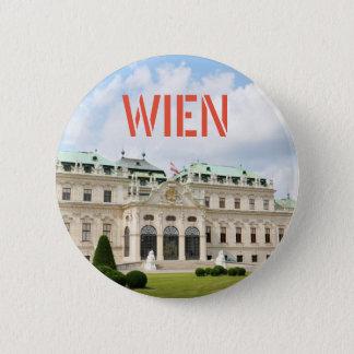 Bóton Redondo 5.08cm Arquitetura em Viena, Áustria