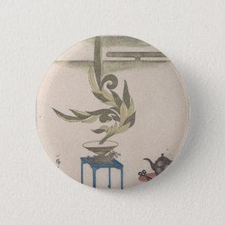 Bóton Redondo 5.08cm Arranjo de flor - Utagawa Itchinsai
