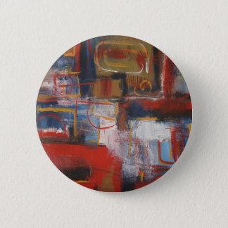Bóton Redondo 5.08cm Arte abstracta africana - quadrados & círculos