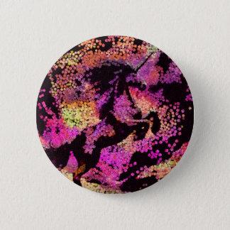 Bóton Redondo 5.08cm Arte abstracta mágica do unicórnio da fantasia