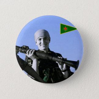 Bóton Redondo 5.08cm Arte curdo do lutador 4 de YPJ