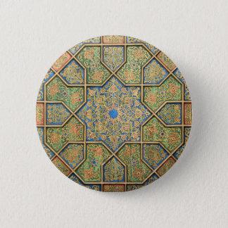 Bóton Redondo 5.08cm Arte da parede no botão de Uzbekistan