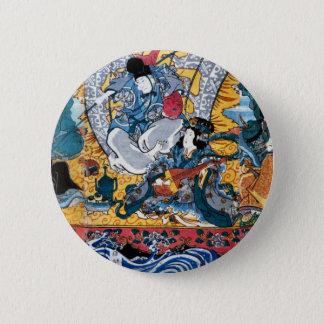 Bóton Redondo 5.08cm Arte de Ukiyoe do japonês (utagawa do kunisada)