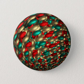 Bóton Redondo 5.08cm arte do fractal do abstrato da textura das