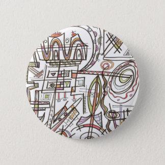 Bóton Redondo 5.08cm Arte do Rapsódia-Abstrato geométrica