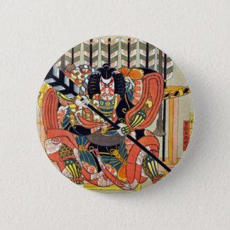 Bóton Redondo 5.08cm Arte japonesa do ukiyoe (utagawa do kunisada)