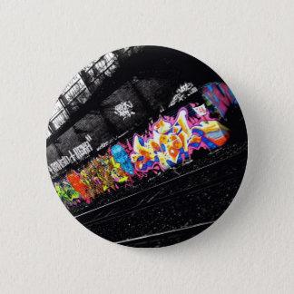 Bóton Redondo 5.08cm arte urbana da rua dos grafites preta & branco com