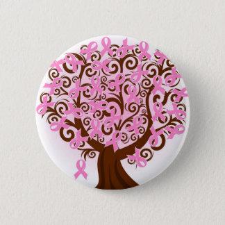Bóton Redondo 5.08cm Árvore cor-de-rosa do cancro da mama da esperança