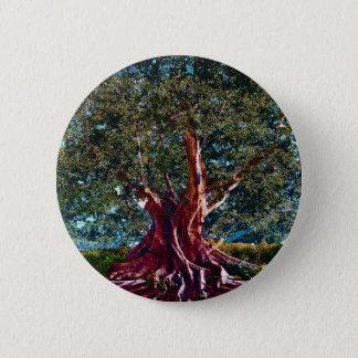 Bóton Redondo 5.08cm Árvore da estabilidade da vida