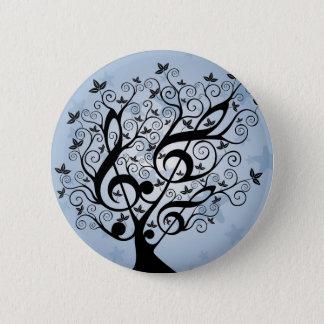 Bóton Redondo 5.08cm Árvore da música