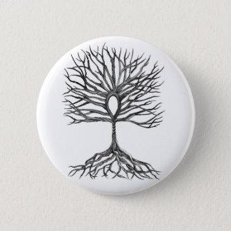 Bóton Redondo 5.08cm Árvore de Ankh do design da vida