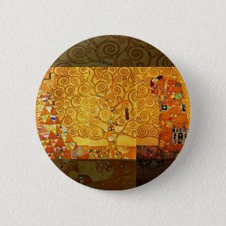 Bóton Redondo 5.08cm Árvore de Gustavo Klimt do impressão da arte de
