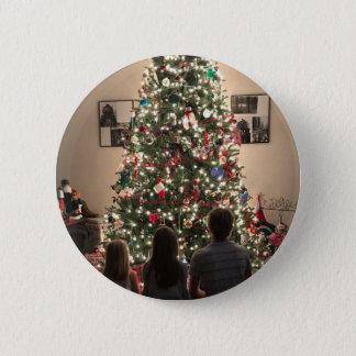 Bóton Redondo 5.08cm Árvore de Natal bonita com miúdos