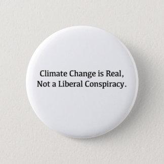 Bóton Redondo 5.08cm As alterações climáticas são reais, não uma