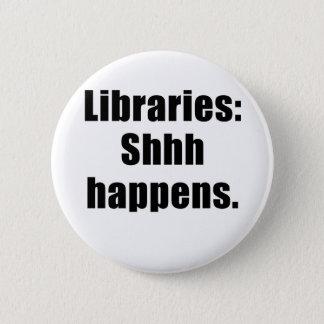 Bóton Redondo 5.08cm As bibliotecas Shhh acontecem