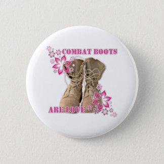 Bóton Redondo 5.08cm as botas de combate são amor