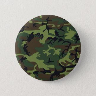 Bóton Redondo 5.08cm As forças armadas verdes da floresta camuflam o