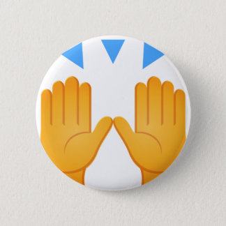 Bóton Redondo 5.08cm As mãos aumentaram Emoji