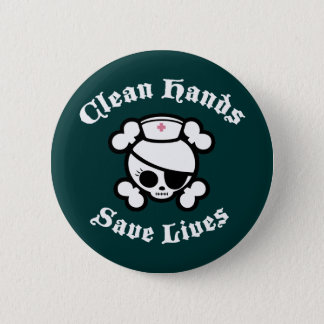 Bóton Redondo 5.08cm As mãos limpas salvar vidas