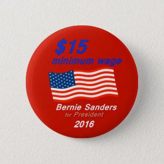 Bóton Redondo 5.08cm As máquinas de lixar de Bernie apoiam o salário