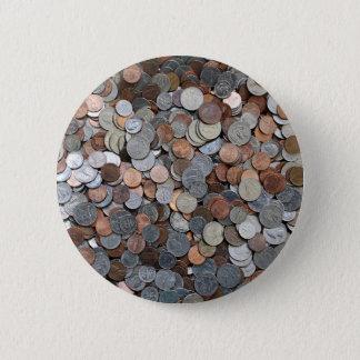 Bóton Redondo 5.08cm As moedas americanas salvar o investimento do