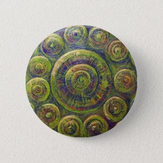 Bóton Redondo 5.08cm As rodas (simbolismo geométrico religioso)