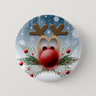 Bóton Redondo 5.08cm Assim incandesce Natal do feriado do Xmas da rena