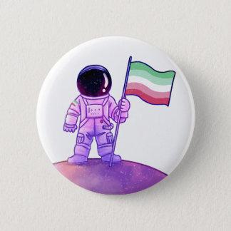 Bóton Redondo 5.08cm Astronauta do orgulho [Abrosexual]
