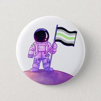 Bóton Redondo 5.08cm Astronauta do orgulho [Agender]