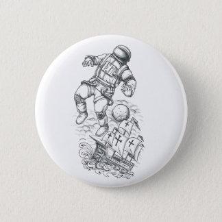 Bóton Redondo 5.08cm Astronauta Tethered ao tatuagem de Caravel