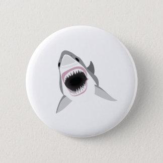Bóton Redondo 5.08cm Ataque do tubarão - mordida do grande tubarão