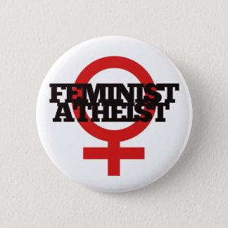 Bóton Redondo 5.08cm Ateu feminista