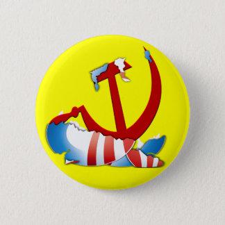 Bóton Redondo 5.08cm Atrás do logotipo de Obama