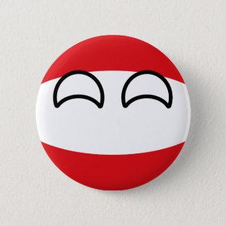 Bóton Redondo 5.08cm Áustria Geeky de tensão engraçada Countryball