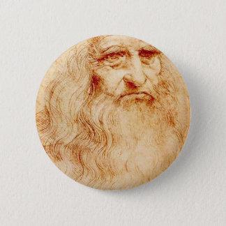 Bóton Redondo 5.08cm Auto-Retrato de Leonardo da Vinci cerca de