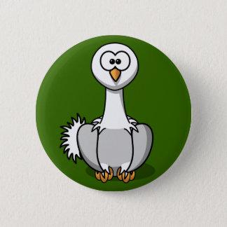 Bóton Redondo 5.08cm Avestruz bonito no Pin do botão da grama verde