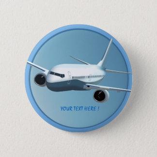 Bóton Redondo 5.08cm Avião de passagem no botão do céu