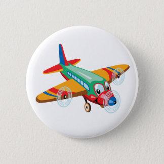 Bóton Redondo 5.08cm avião dos desenhos animados