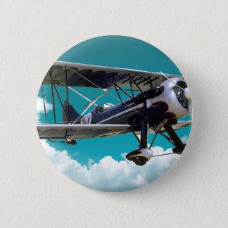 Bóton Redondo 5.08cm Avião velho
