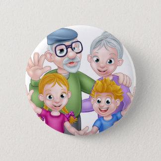 Bóton Redondo 5.08cm Avós e netos dos desenhos animados